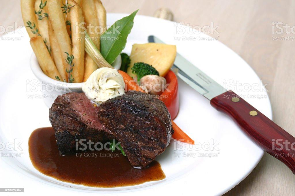 Tenderloin Steak Dinner stock photo