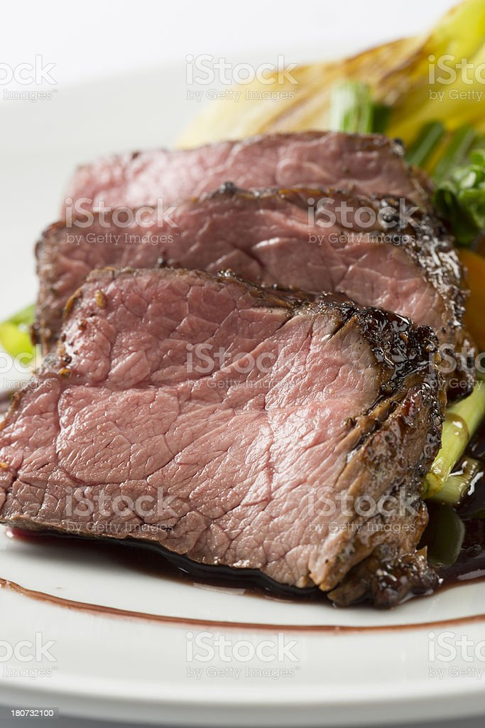 Tenderloin with vegetables royalty-free stock photo