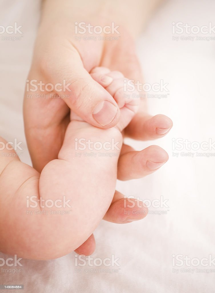 Tenderness and care  parent of the kid royalty-free stock photo