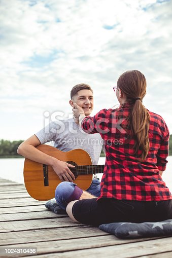 1083155024 istock photo Tenderness by the lake 1024310436