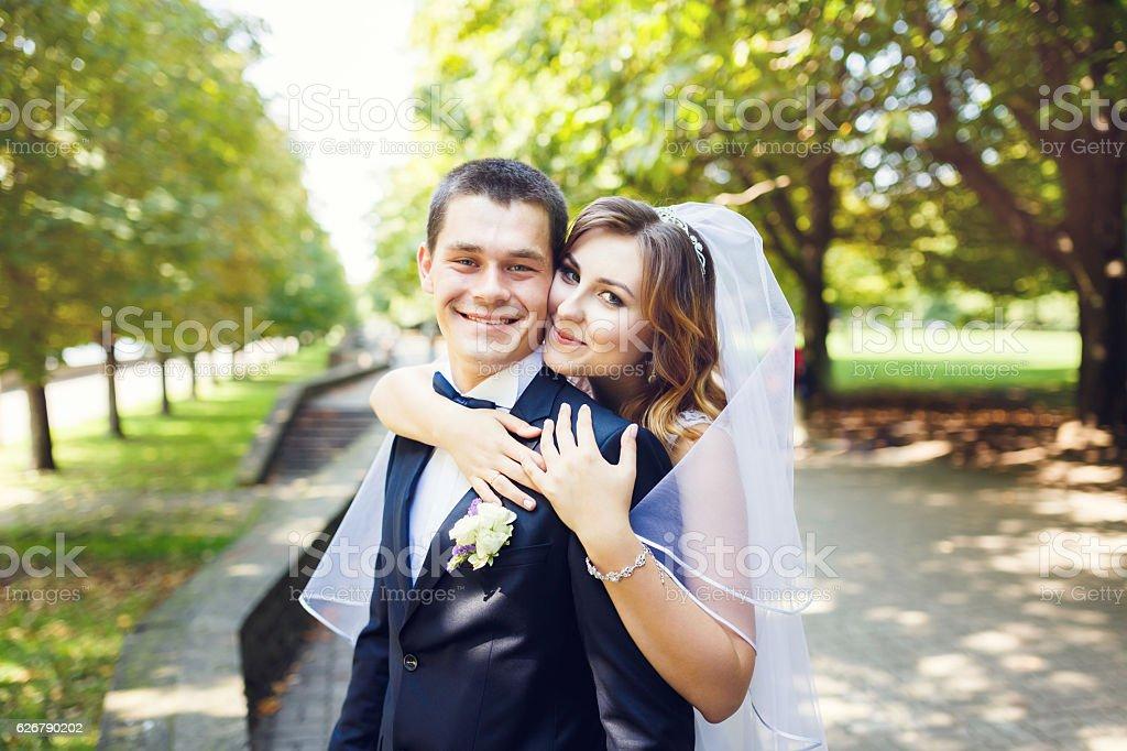 Tenderness wedding couple stok fotoğrafı