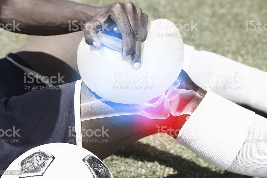 Tending an injury stock photo
