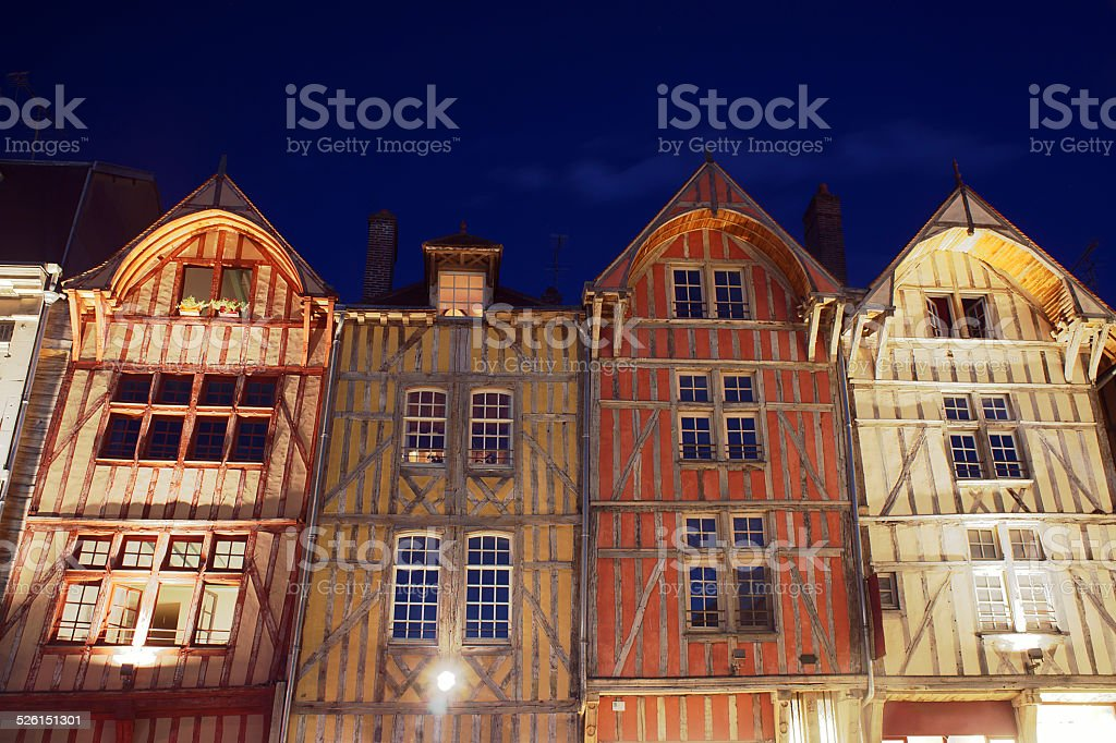 tenement houses in old town stock photo