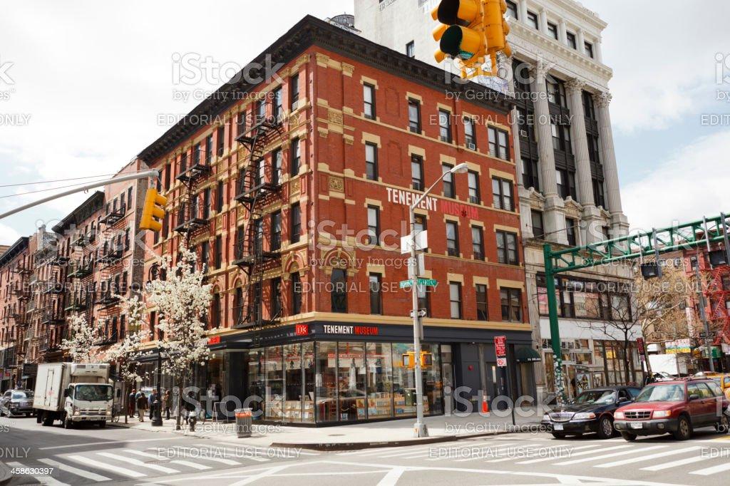 Tenement Museum Lower East Side Manhattan stock photo