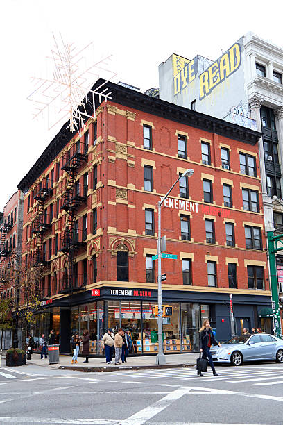 tenement museum - lower east side manhattan stock pictures, royalty-free photos & images