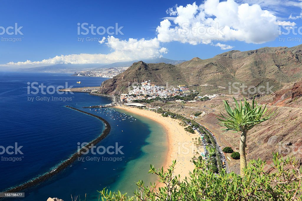 Tenerife beach - Playa de las Teresitas stock photo