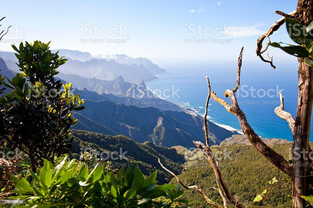 Tenerife, Canary Islands, Anaga Mountains, Spain royalty-free stock photo