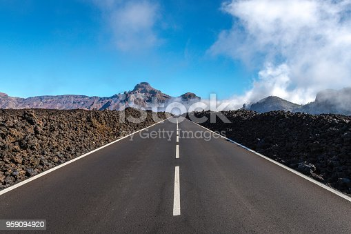 Tenerife Car Road in El Teide National Park