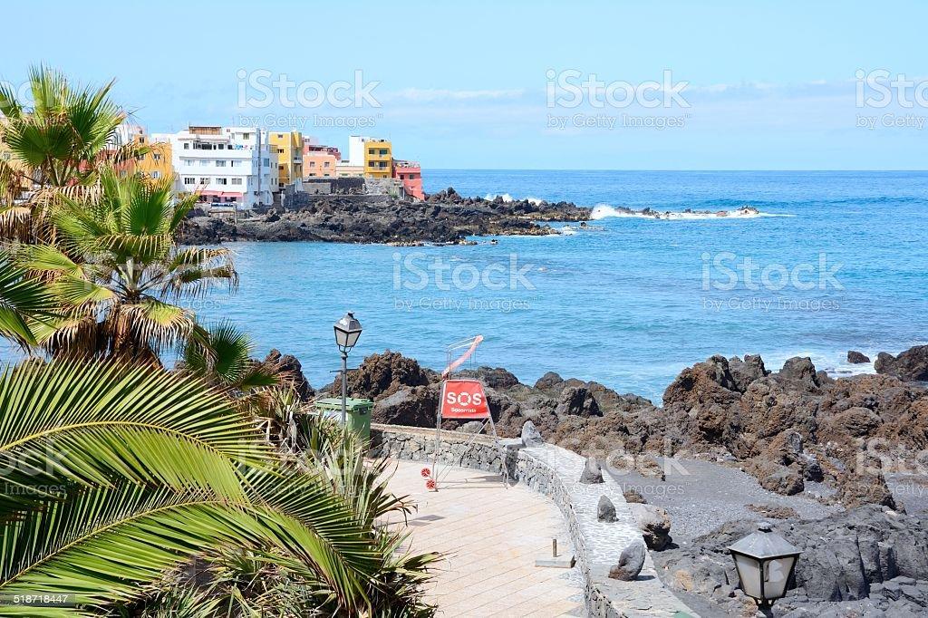 Tenerife coast stock photo