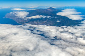 Tenerife island and Mount Teide volcano, aerial view,Spain,Nikon D850
