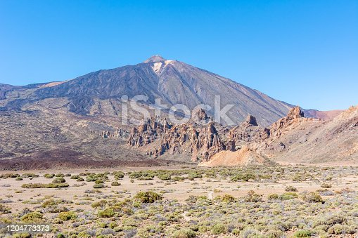 istock Tenerife landscape and Teide volcano, Canary islands, Spain 1204773373