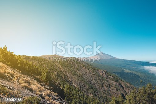 Tenerife landscape with view on Pico del Teide mountain  -