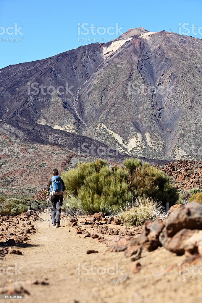 Tenerife, Teide walking royalty-free stock photo