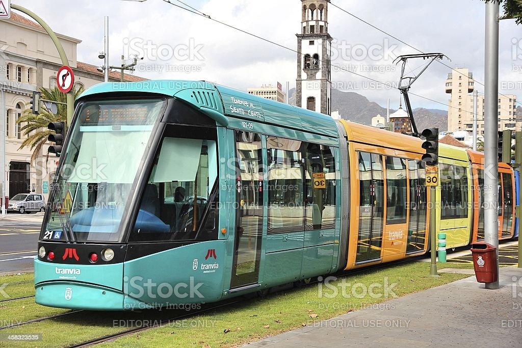 Tenerife tram stock photo