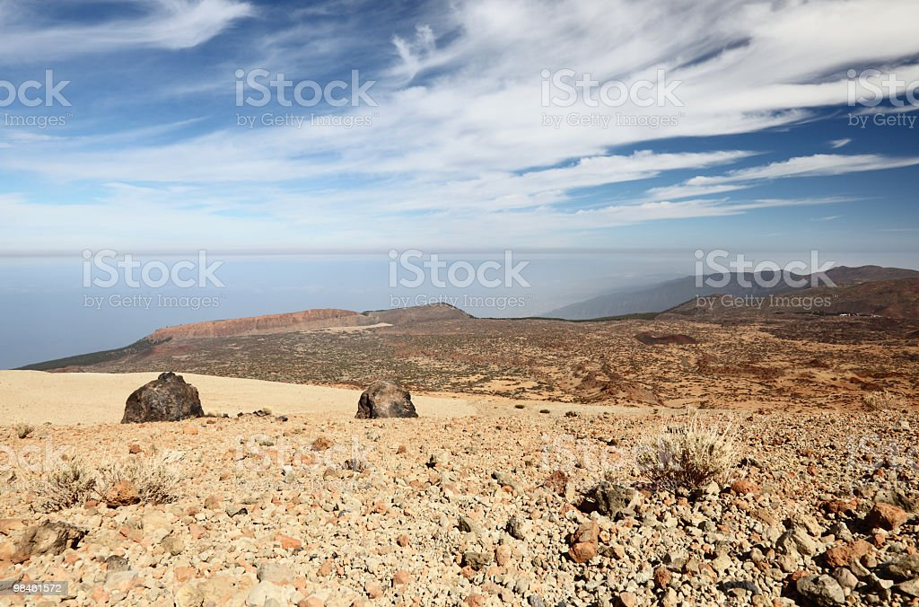 Tenerife - view from Teide royalty-free stock photo