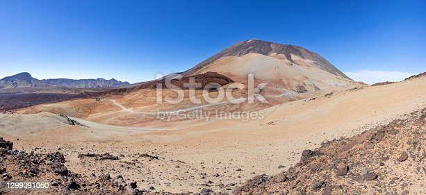 istock Tenerife - view from the mountain Montana Rajada to the Teide landscape 1299091050