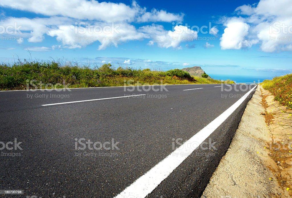 Teneriffa, Road stock photo