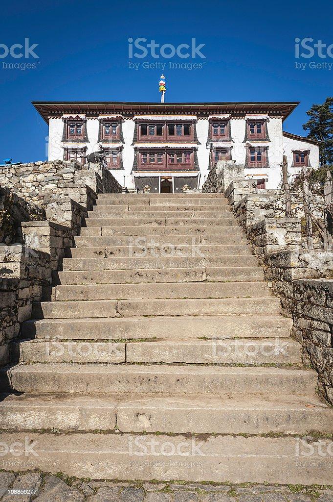 Tengboche Buddhist monastery remote Himalaya gompa Khumbu Nepal royalty-free stock photo