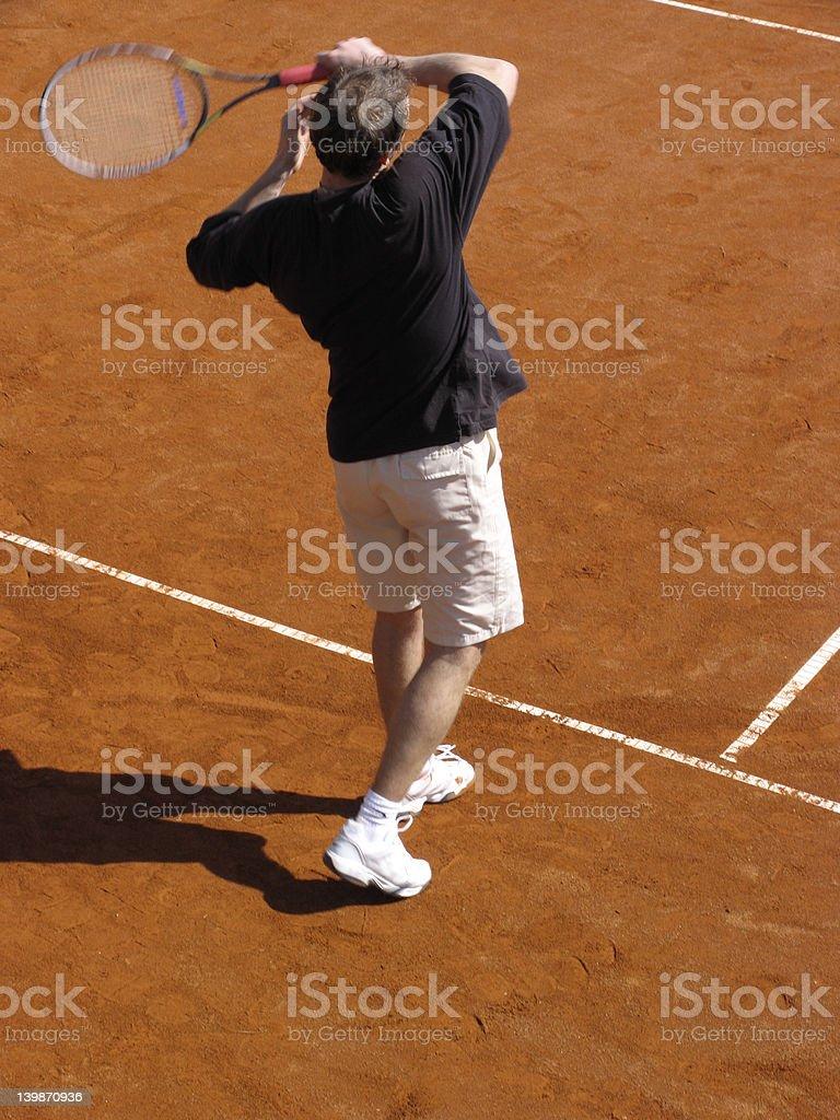 Tenis player stock photo