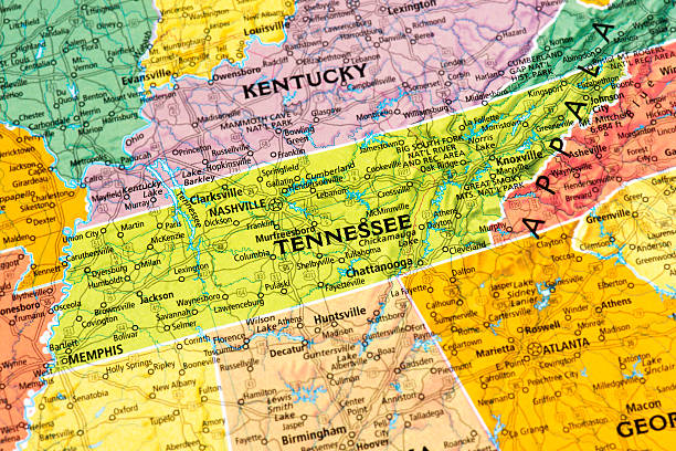 tennesse - tennessee map stock photos and pictures