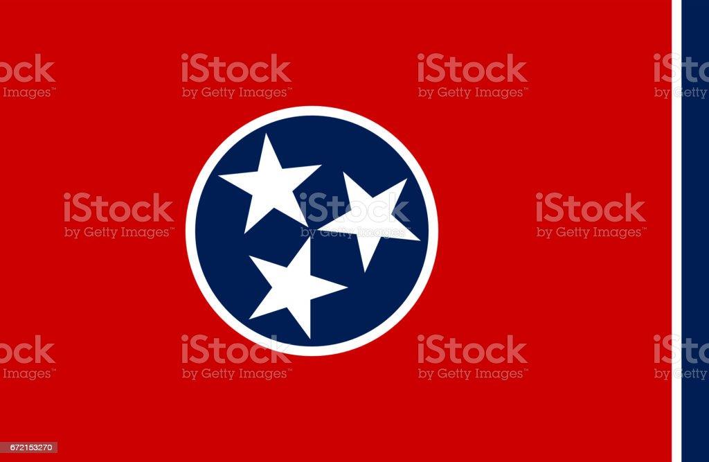 Bandeira do estado de Tennesse - foto de acervo