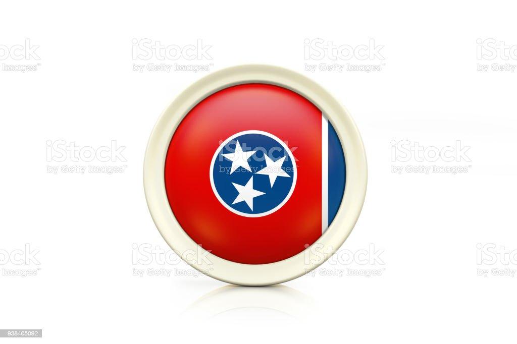 Distintivo de Tennessee em fundo branco - foto de acervo