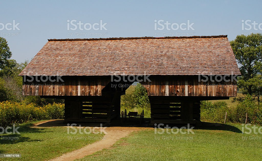 Tennessee cantilevered barn stock photo