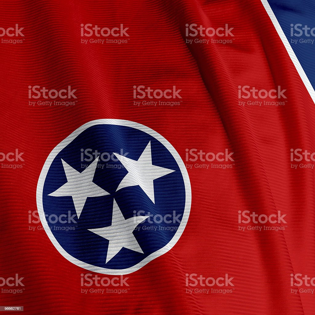 Tennessee Flag Closeup royalty-free stock photo