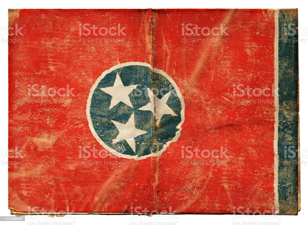 Tennessee flag (XXL) royalty-free stock photo