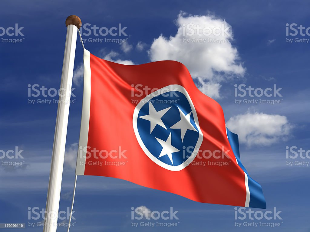 Tennessee flag (with clipping path) royalty-free stock photo