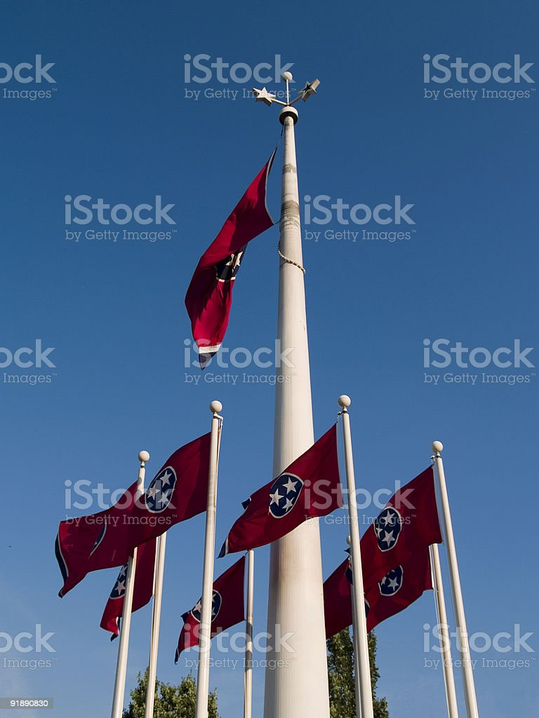 Tennessee Flags, Nashville royalty-free stock photo