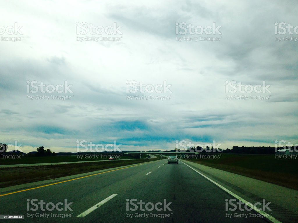 Tennessee highway stock photo