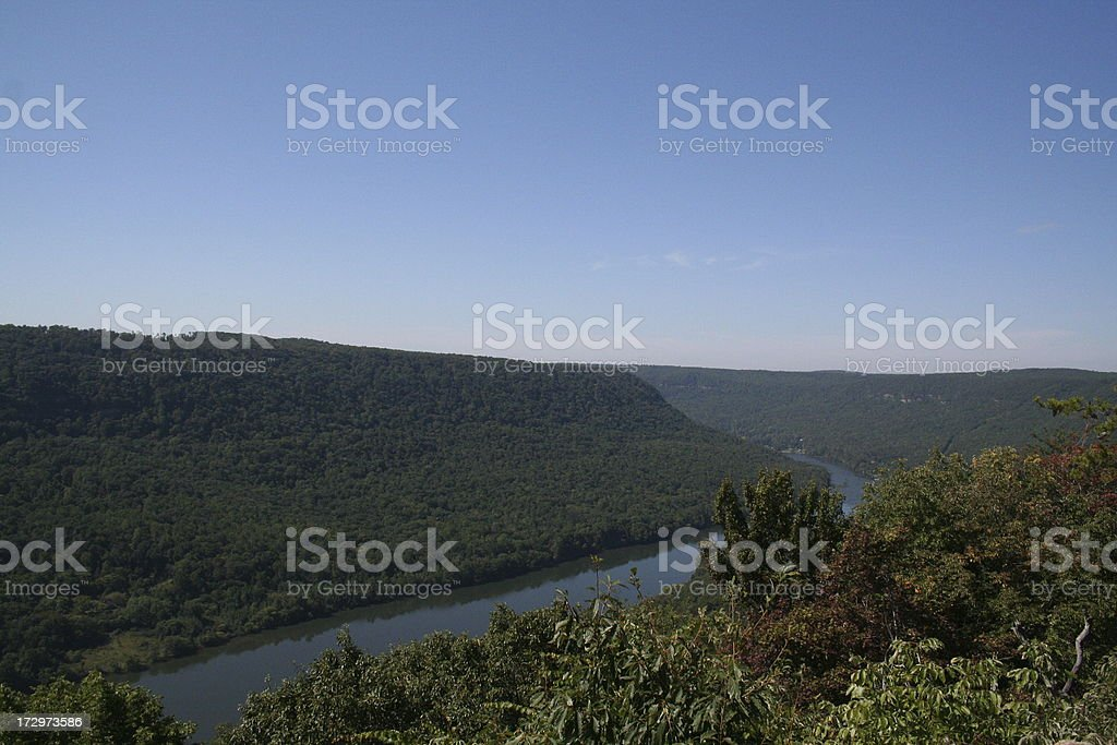 Tennessee River Gorge - Chattanooga, TN stock photo