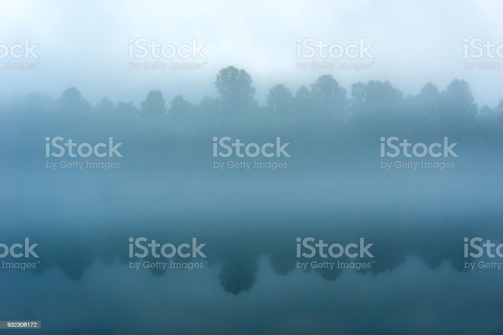 Tennessee River on Foggy Morning stock photo