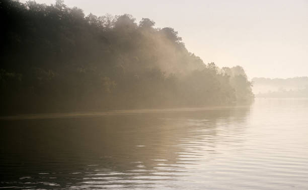 Tennessee River Dawn on the Tennessee River tennessee river stock pictures, royalty-free photos & images