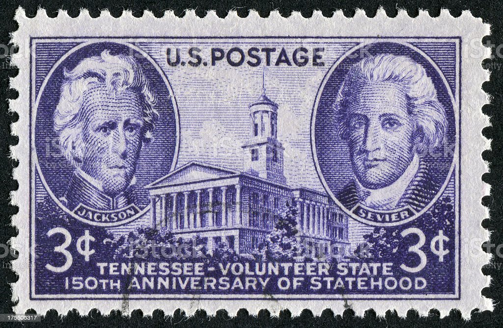 Tennessee Stamp royalty-free stock photo