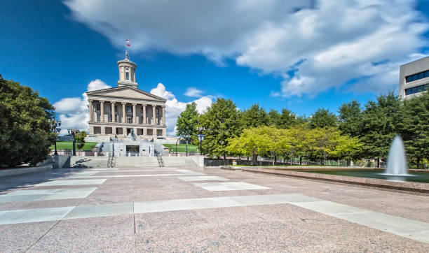 ナッシュビルのテネシー州議会議事堂 - 柱頭 ストックフォトと画像