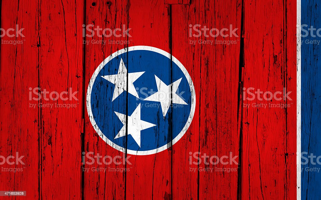 Tennessee State Flag Grunge Background stock photo