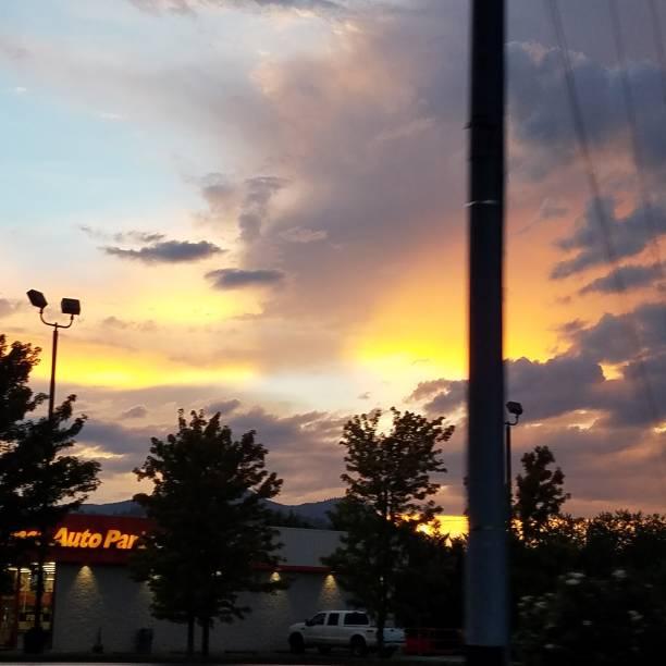 Tennessee sunset stock photo