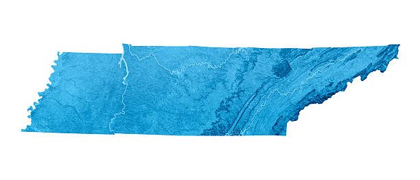tennessee topographic map isolated - tennessee map stock photos and pictures