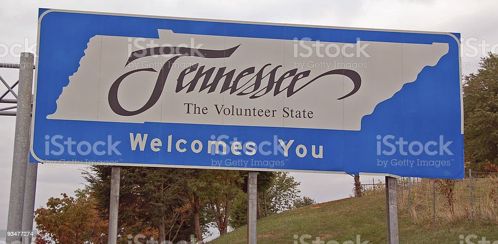 Tennessee Welcomes You! royalty-free stock photo