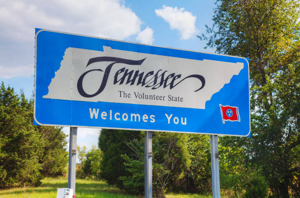 Tennessee welcomes you sign stock photo