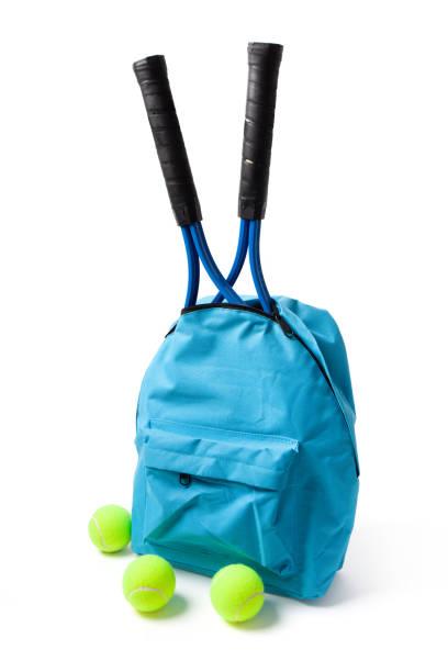 Tennis Accessories on White stock photo