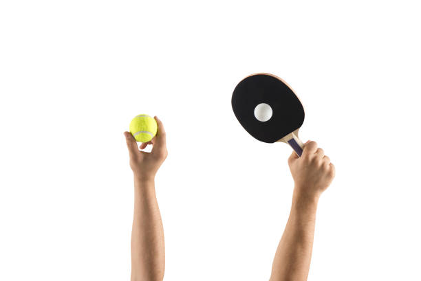 tennis and table tennis - table tennis racket stock pictures, royalty-free photos & images