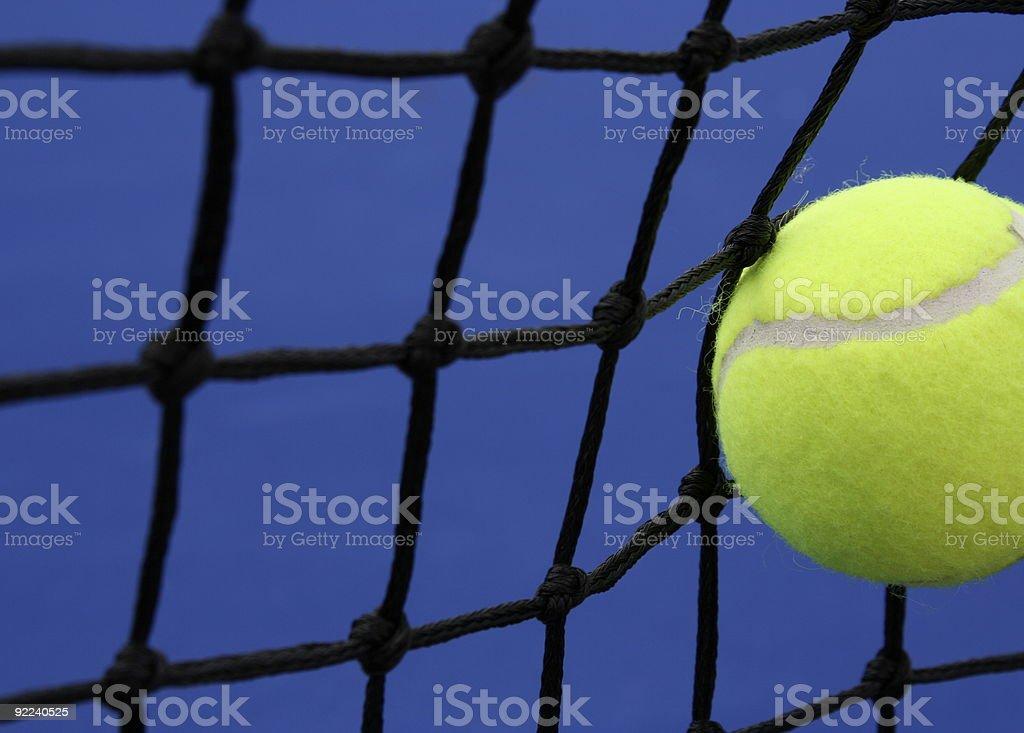 Tennis ball against the Net