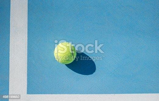 istock tennis ball and floor 498199652
