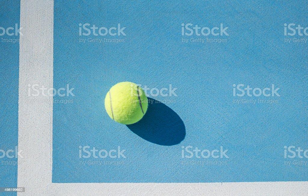 tennis ball and floor stock photo