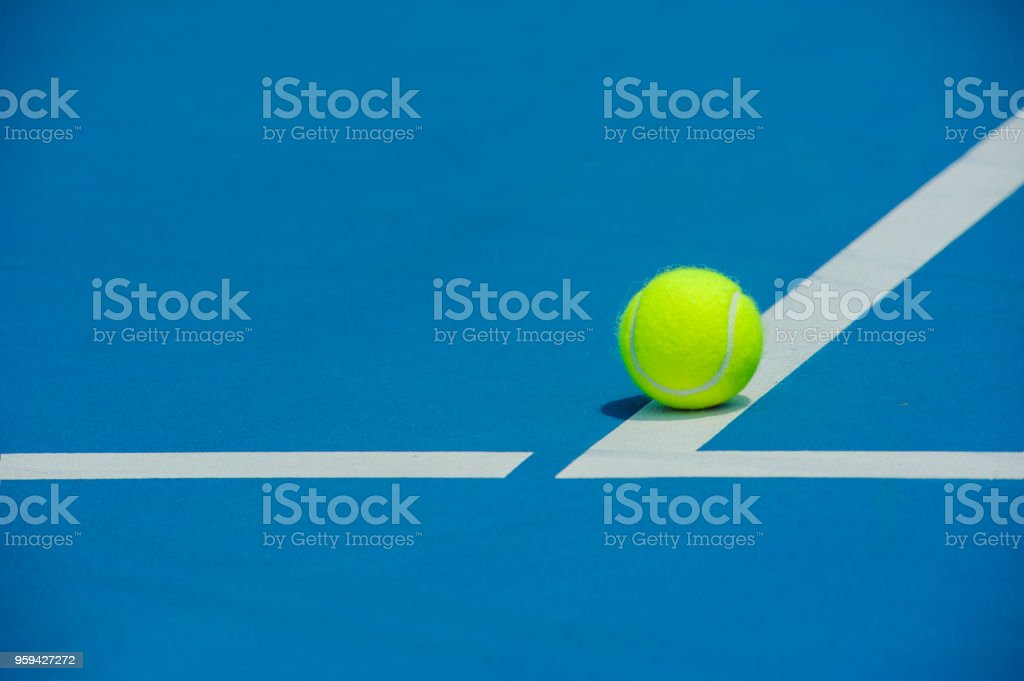 tennis ball and tennis court background ,sport concept