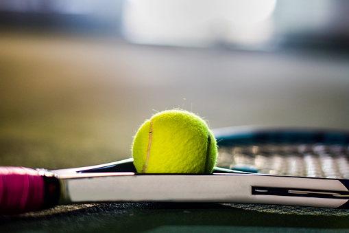 istock Tennis ball and the racket 1047418708