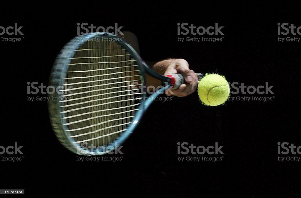 Tennis Ball Being Hit royalty-free stock photo